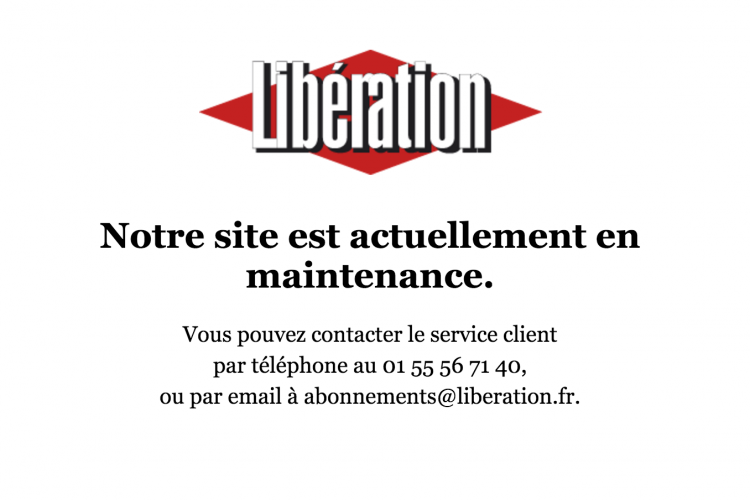Site abonnements Liberation.fr en maintenance